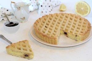 Crostata con crema al limone e ricotta ed amarene