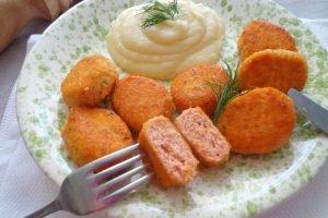 Polpette di salmone e patate