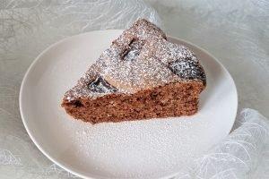 Torta senza burro al cocco e cioccolato fondente
