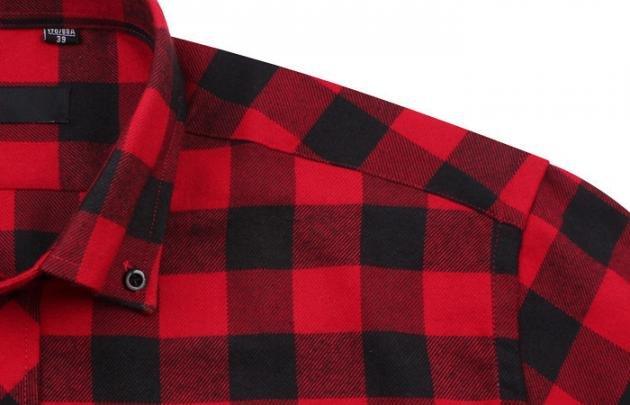 Camicia a quadri rossa e nera: l'ideale per l'uomo di tendenza