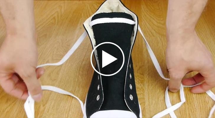 Allacciate ancora le scarpe con il fiocco? Ecco la tecnica