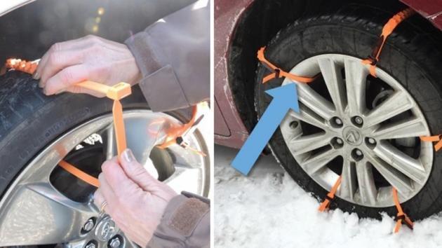 Queste fascette sostituiscono le catene da neve. Ecco come usarle in caso di nevicate improvvise