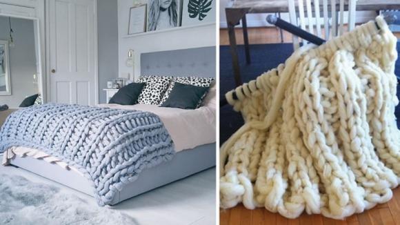 Ecco un'idea fai da te per rendere il vostro letto alla moda e ben caldo