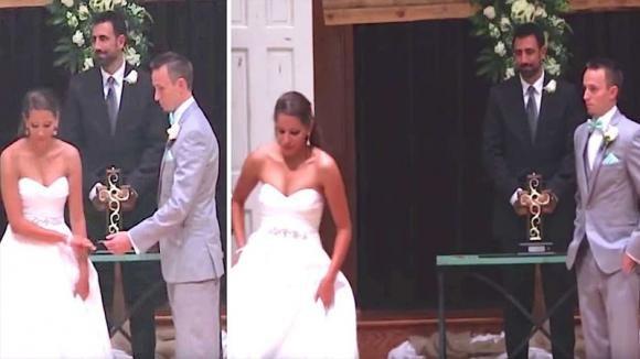 La sposa abbandona il fidanzato all'altare. Guardate le sue mani e capirete il motivo