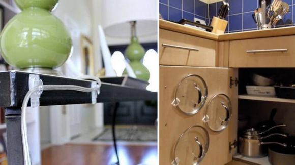 Alcuni usi geniali dei ganci adesivi che vi renderanno la vita più semplice