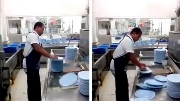 Non ami lavare i piatti? Impara la tecnica di quest'uomo