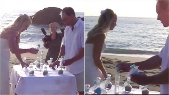La sposa scappa via durante la cerimonia. Le nozze in riva al mare prendono una piega inaspettata