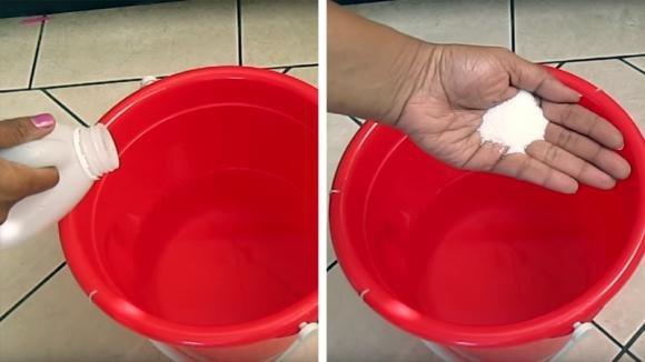 Aggiunge sale ed aceto nel secchio: un rimedio casalingo di cui non potrete più fare a meno
