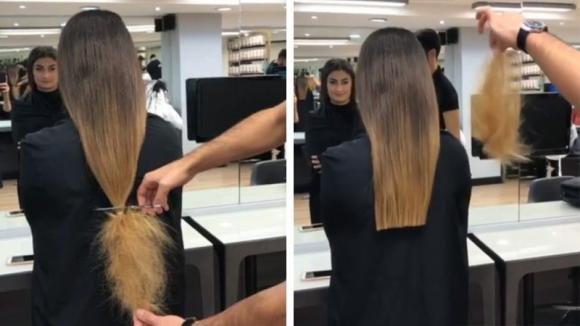 Questa donna non taglia i capelli da anni: ecco come la trasforma il suo parrucchiere