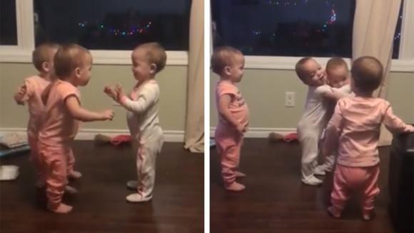 Queste 4 gemelline non riescono a smettere di abbracciarsi: questo video vi commuoverà!