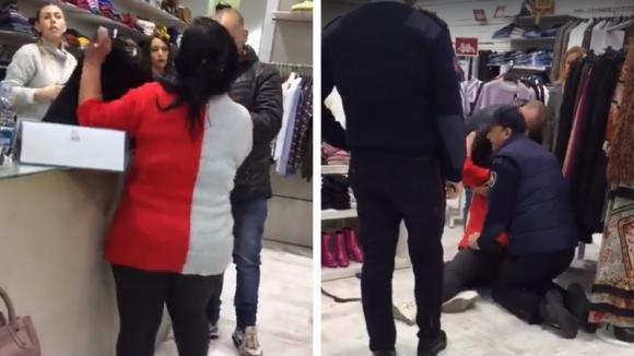 Cliente insoddisfatta urla, poi si accascia sul pavimento: l'assurda scena in un negozio di Caserta
