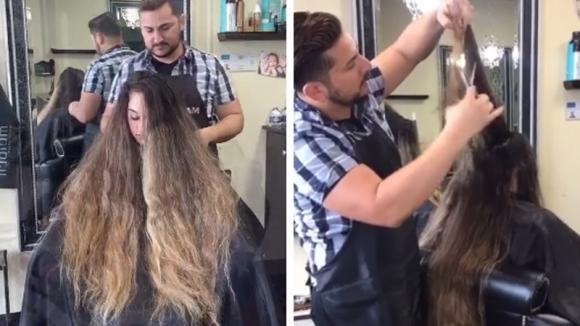 Questa donna non tagliava i capelli da anni: il suo parrucchiere la trasforma in modo stupendo