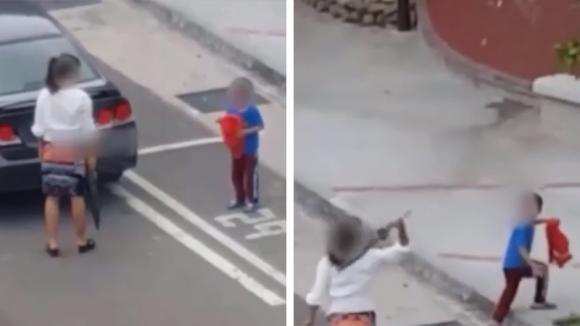 """Il piccolo urla in lacrime: """"Mamma, non lo farò più"""". La donna non vuole sentire ragioni e gli tira l'ombrello"""