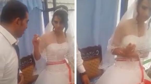 La moglie scherza troppo con la torta: lo sposo non apprezza e reagisce in modo pessimo