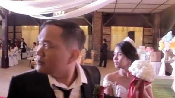 Violento tifone interrompe il matrimonio subito dopo le promesse nuziali