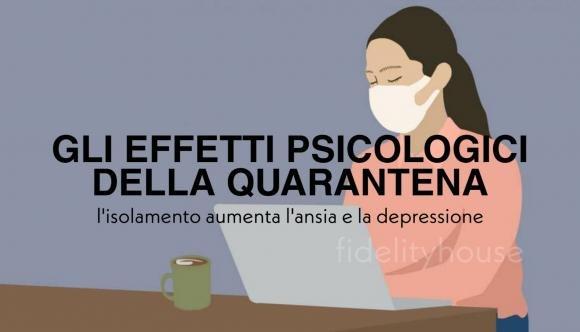 Gli effetti psicologici della quarantena, l'isolamento aumenta l'ansia e la depressione. Attenzione a questi segnali