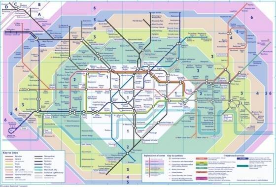 Londra Cartina Zone.Metropolitana Di Londra Fidelity Viaggi