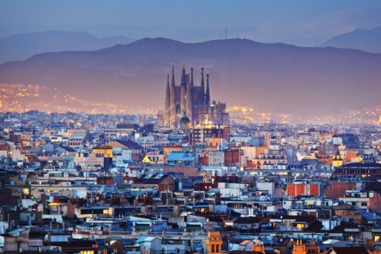 Mappa con i monumenti di Barcellona