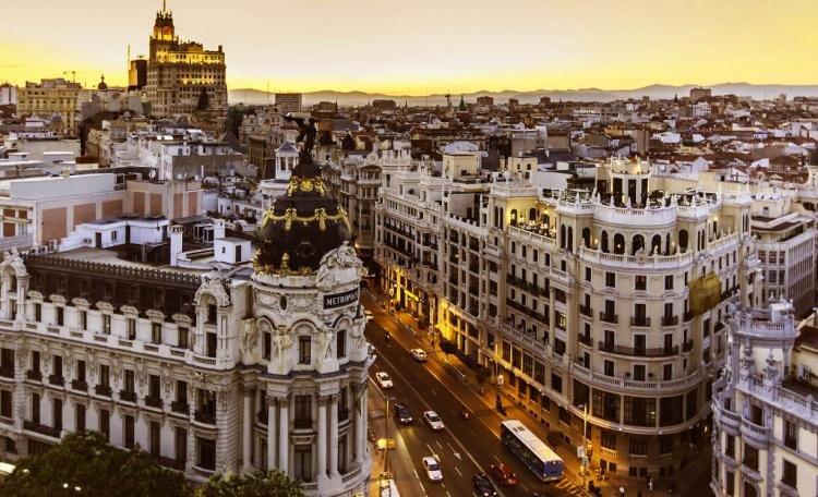 Mappa con i monumenti di Madrid