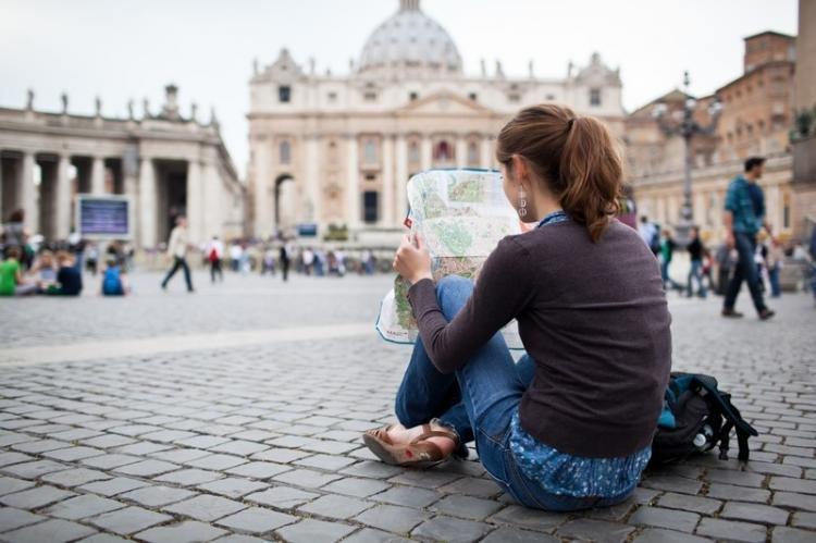 Mappa con i monumenti di Roma