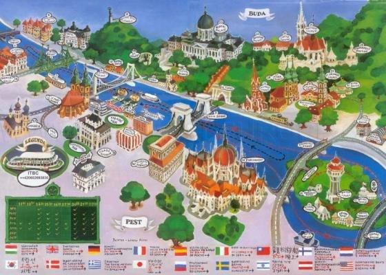 Cartina Geografica Europa Budapest.Mappa Con I Monumenti Di Budapest Fidelity Viaggi
