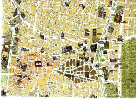 Cartina Della Francia Con Monumenti.Mappa Con I Monumenti Di Madrid Fidelity Viaggi