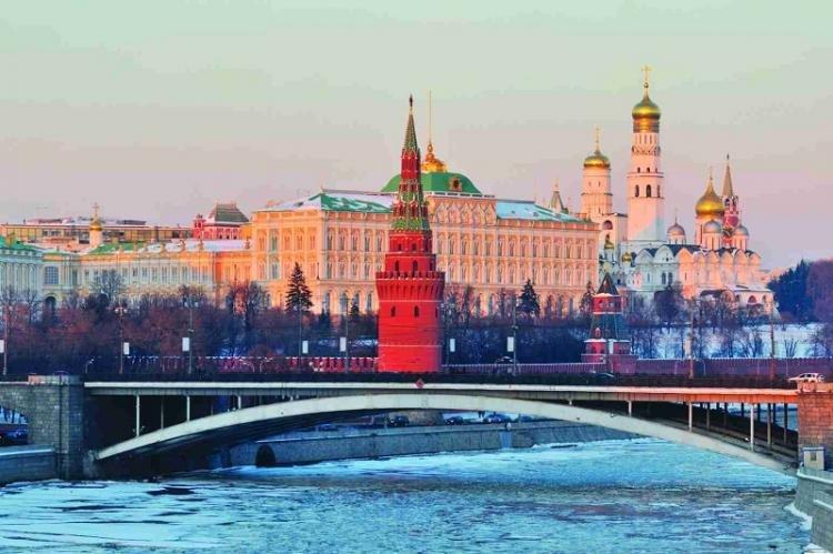 Mappa con monumenti di Mosca