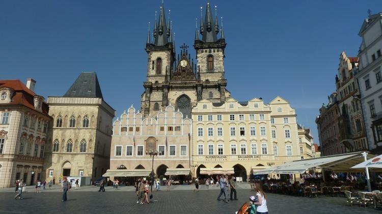 Mappa con i monumenti di Praga