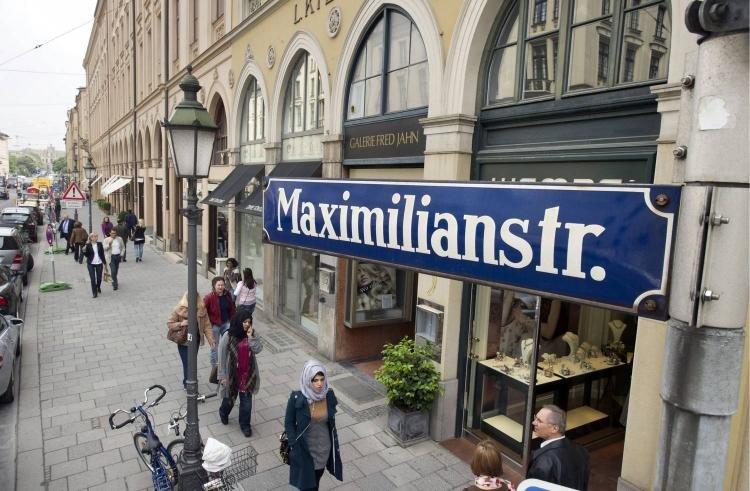Maximilianstraße a Monaco di Baviera
