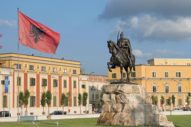 Piazza Skanderbeg a Tirana