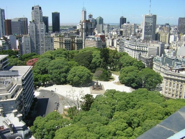 Plaza Josè de San Martin a Buenos Aires
