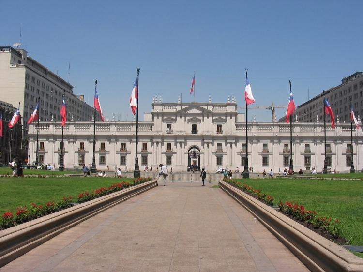 Palacio de la Moneda a Santiago del Cile