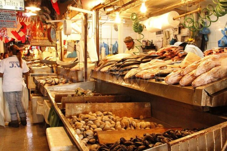 Mercado Central a Santiago del Cile