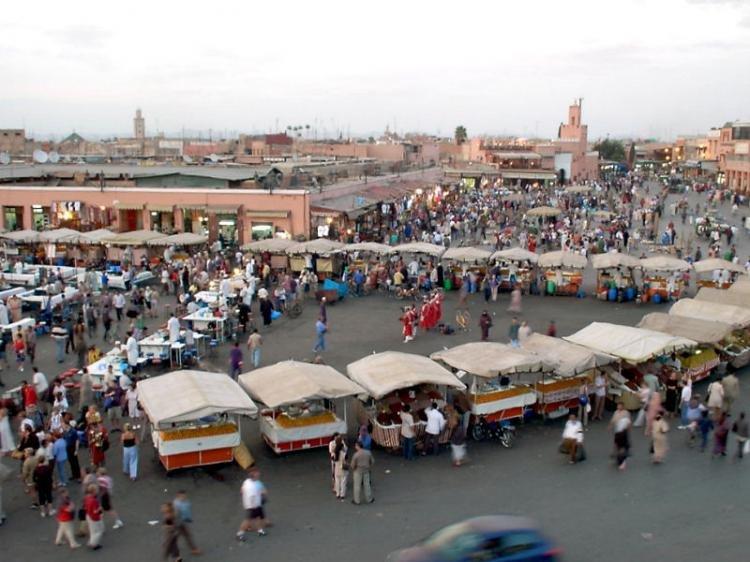Piazza Jamaa el Fna a Marrakech