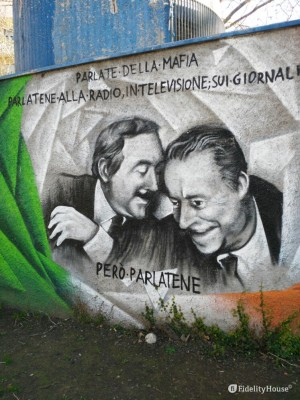 Falcone e Borsellino in un murale di Roma