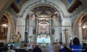 Interno del Santuario di Montecastello Tignale (BS)
