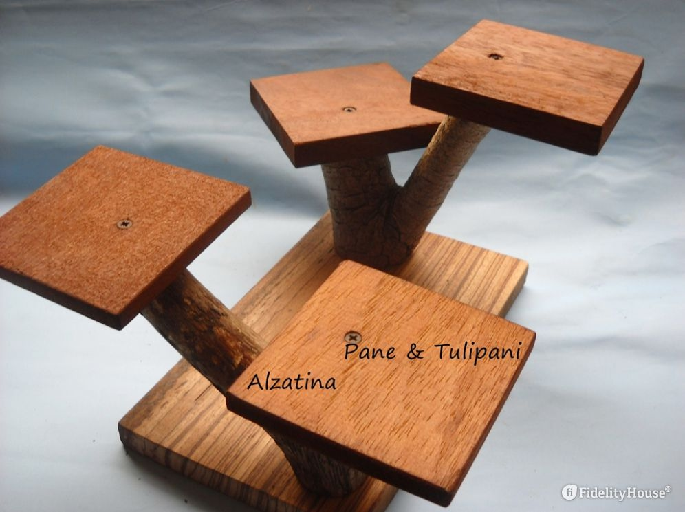 Alzatina di legno a 4 posti - Fidelity Foto