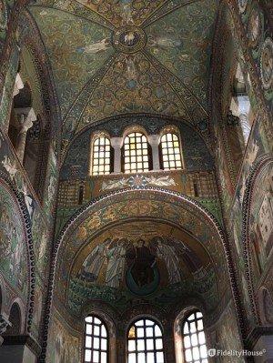 Catino absidale e soffitto della Basilica di San Vitale, Ravenna
