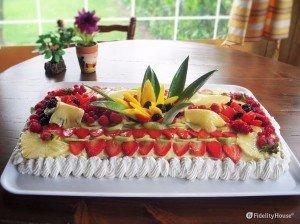 Torta esotica alla frutta
