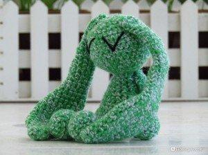 Il verde coniglio dei Negramaro realizzato a mano
