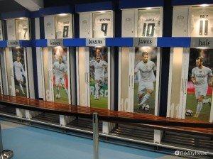 Spogliatoi allo Stadio Santiago Bernabéu