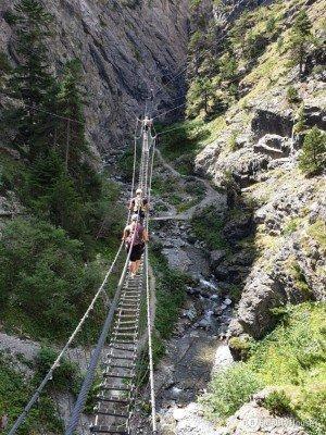 Ponte tibetano a Claviere, Piemonte