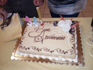 Torta per festeggiare un anniversario