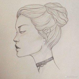 Profilo su carta, uno dei miei ultimi disegni.