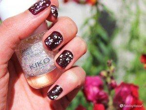 Nail art con smalto Kiko Candy Canes