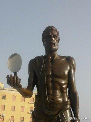 La statua di Archimede – Siracusa