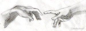 Tratto dalla 'Creazione di Adamo' di Michelangelo Buonarroti