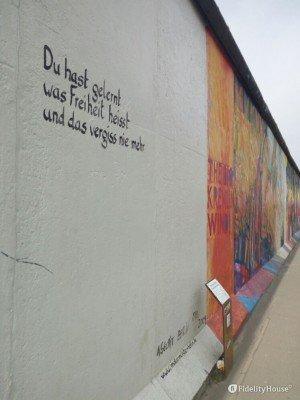 Muro di Berlino, frase
