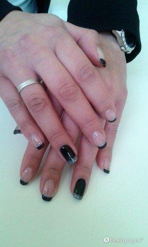 French manicure al contrario