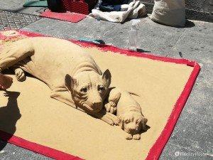Sculture di sabbia a Torino
